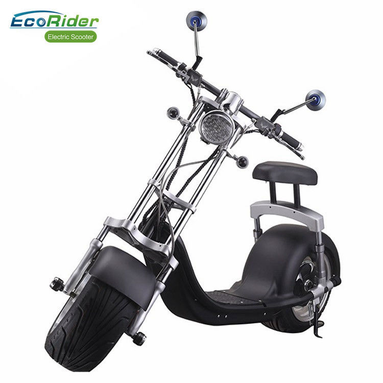 1200W Fat Tire Adults Citycoco Electric Scooter With Two Seat , 60V 12ah Battery